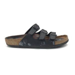 Birkenstock Black Florida Sandals FLAWED 42